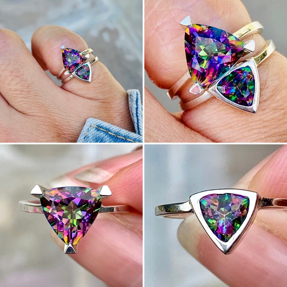 Introducing Limited Edition Mystic Quartz: the Rainbow Self Love Pinky Ring