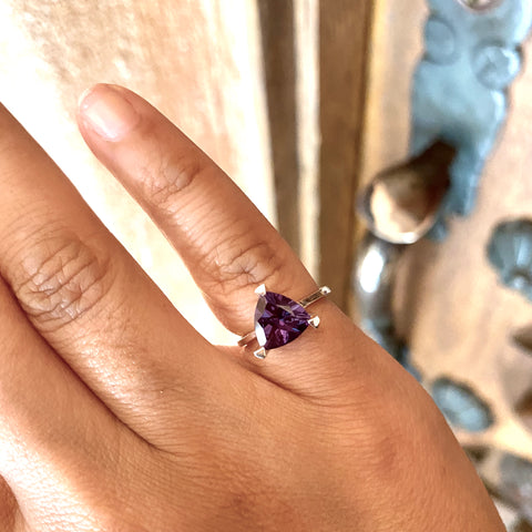 The Alexandrite Self Love Pinky Ring With Purple Glow