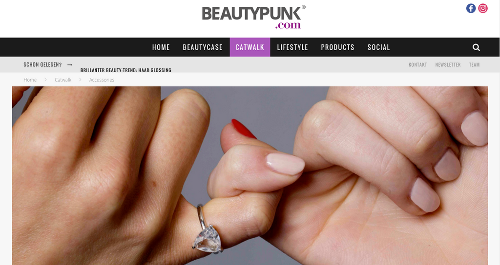 beautypunk international fred and far fred+far self love pinky ring