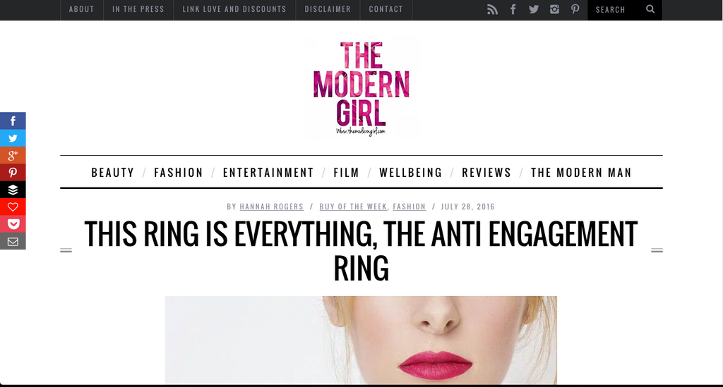 the modern girl fred and far fred+far self love pinky ring