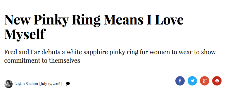 jck online fred and far fred+far self love pinky ring