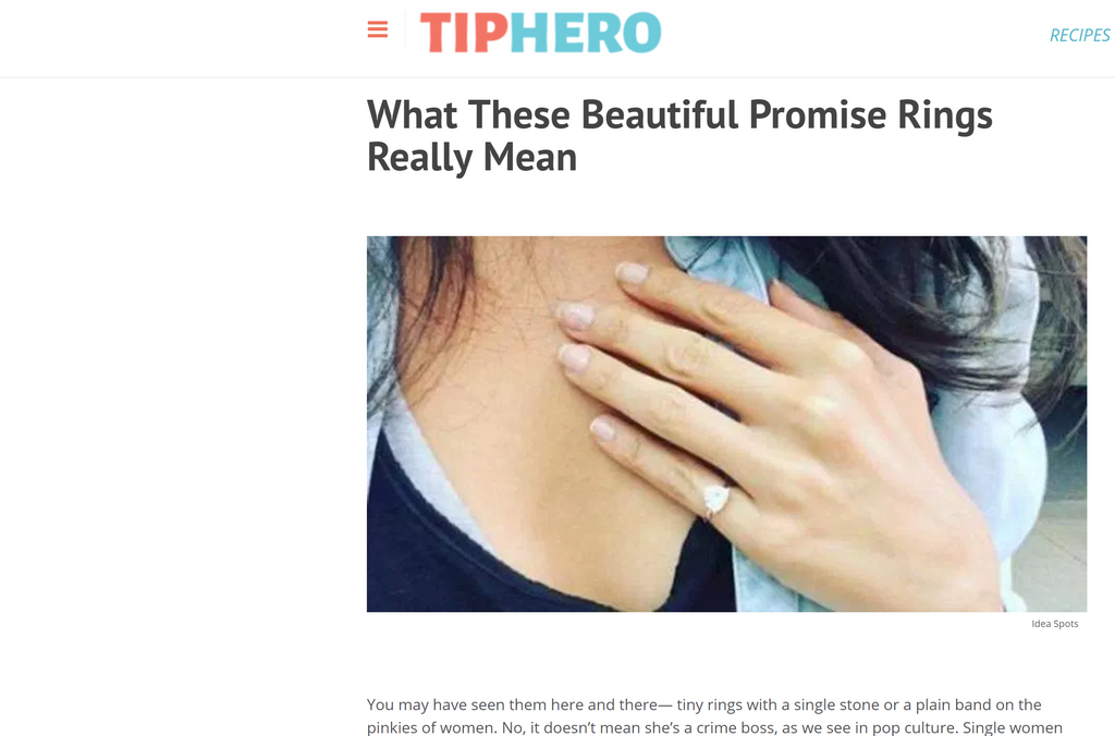 tip hero tiphero self love pinky ring pinky promise fred and far fred+far