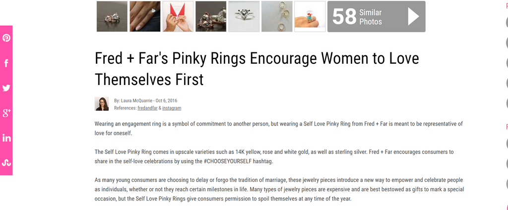 trendhunter trend self love pinky ring fred and far fred+far