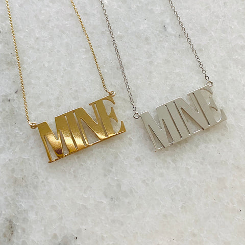 I am MINE necklace by fred and far