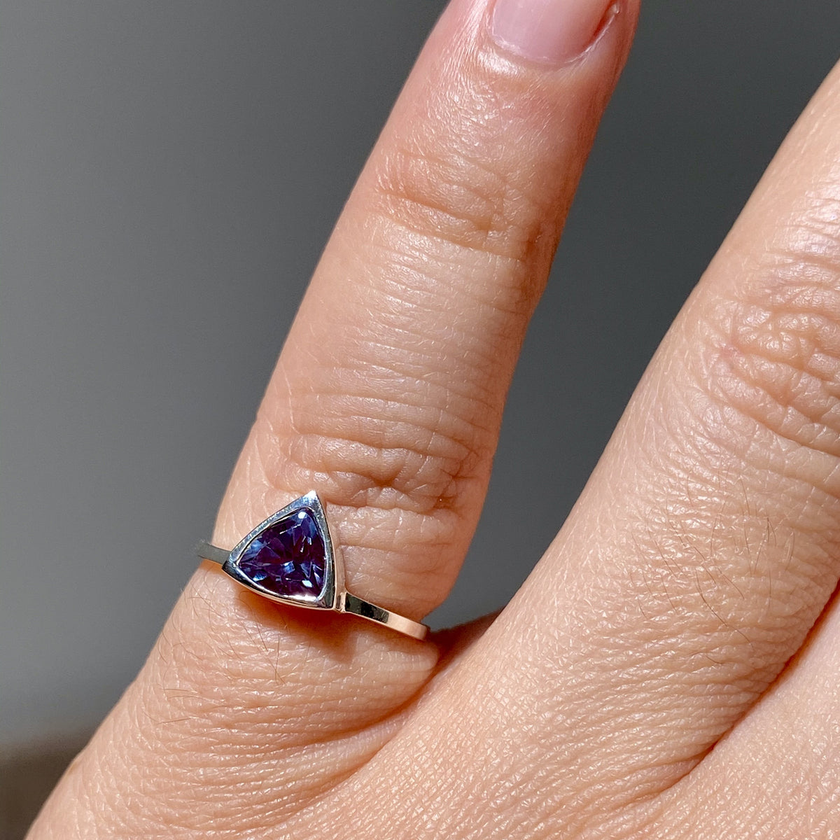 Alexandrite Mini Self Love Pinky Ring