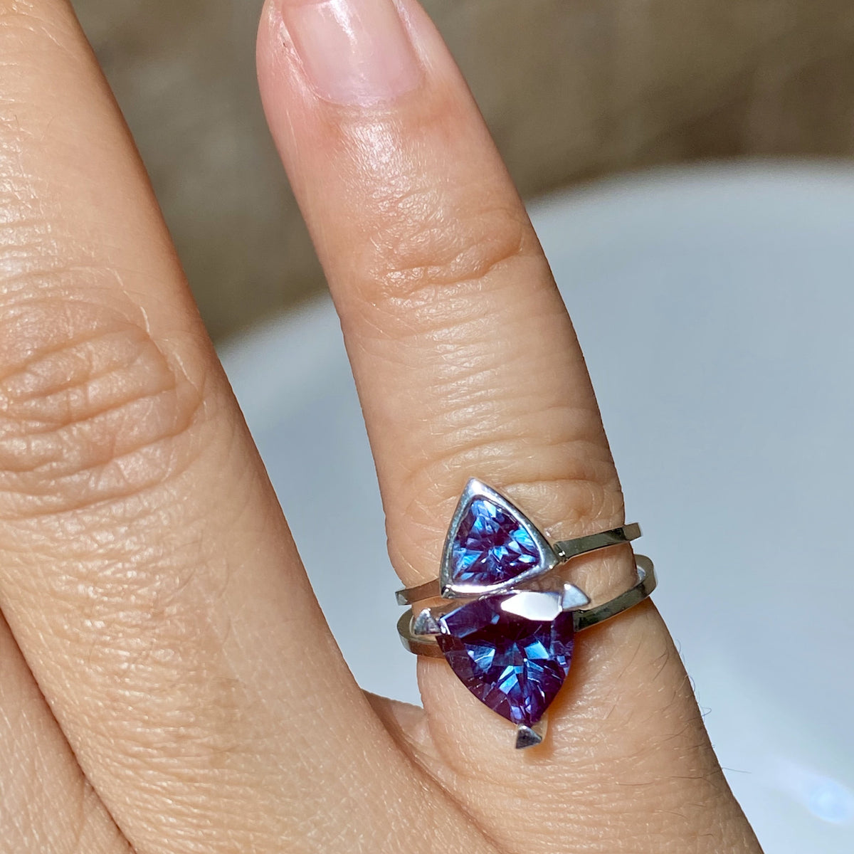 Alexandrite Self Love Pinky Ring