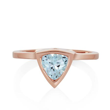 Aquamarine Mini Self Love Pinky Ring