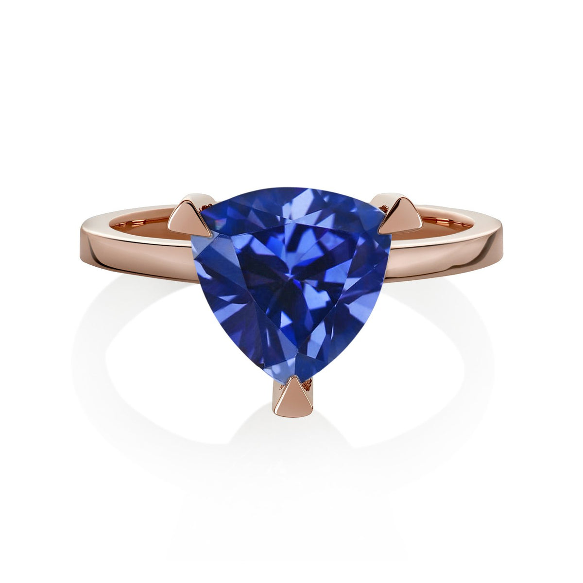 Blue Sapphire Self Love Pinky Ring