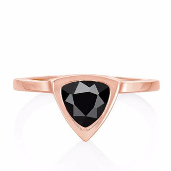The Black Spinel Mini Self Love Pinky Ring
