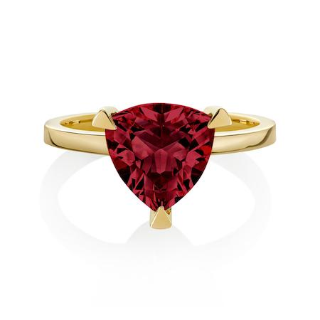 Garnet Self Love Pinky Ring