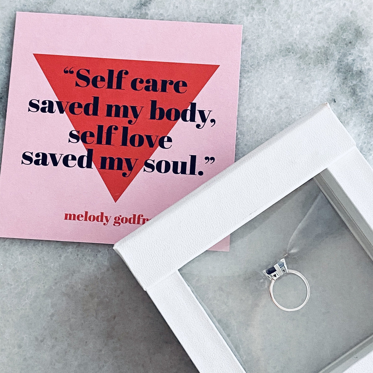 Fred and Far Self Love Pinky Ring Packaging