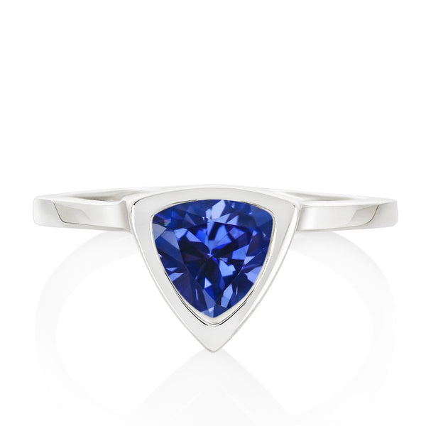Blue Sapphire Mini Self Love Pinky Ring