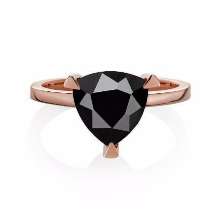 Black Spinel Self Love Pinky Ring