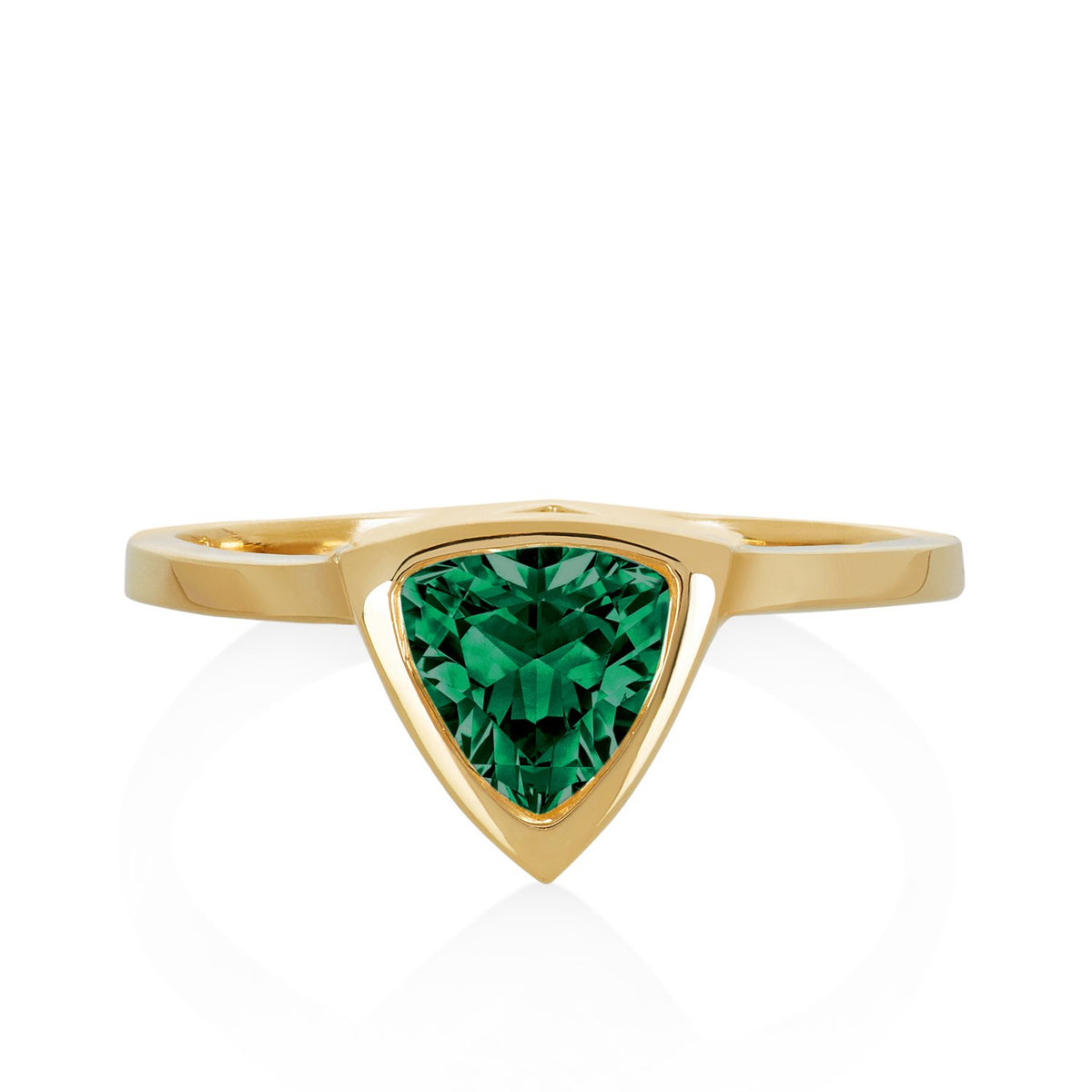 Emerald Mini Self Love Pinky Ring