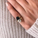 The Special Edition Black Spinel Self Love Pinky Ring
