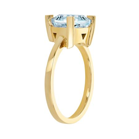 Aquamarine Self Love Pinky Ring