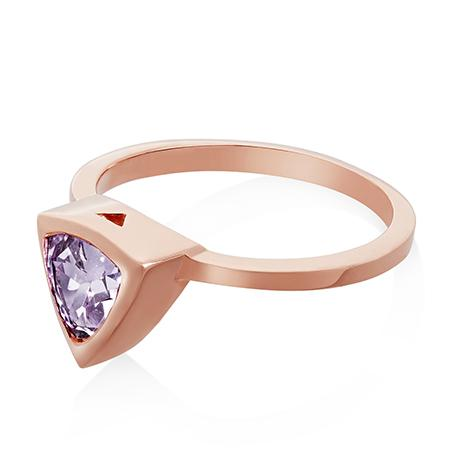 Amethyst Mini Self Love Pinky Ring