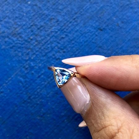 Blue Topaz Self Love Pinky Ring