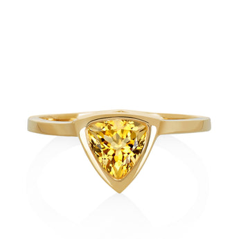 Citrine Mini Self Love Pinky Ring