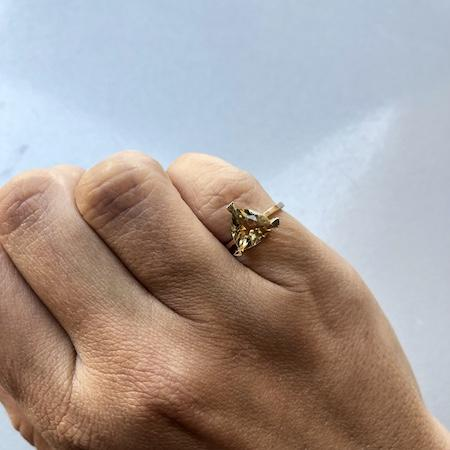 Citrine Self Love Pinky Ring