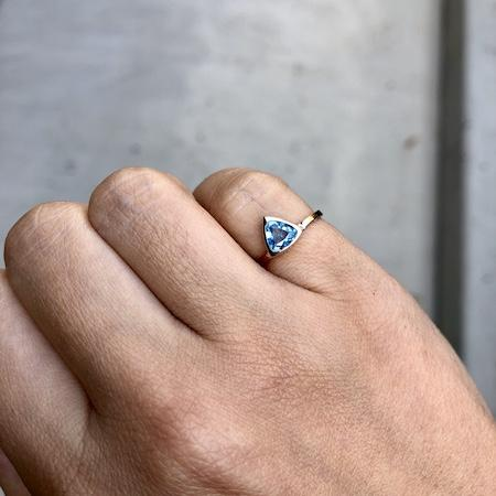 Blue Topaz Mini Self Love Pinky Ring