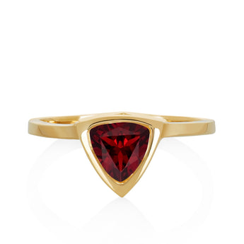 Garnet Mini Self Love Pinky Ring