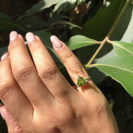 Peridot Self Love Pinky Ring