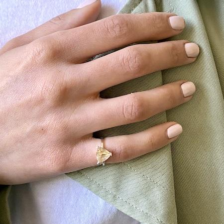 Limited Edition Gold Rutilated Quartz Self Love Pinky Ring