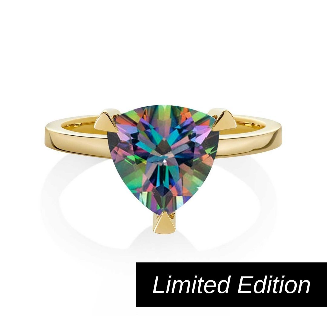 Limited Edition Mystic Quartz Rainbow Self Love Pinky Ring