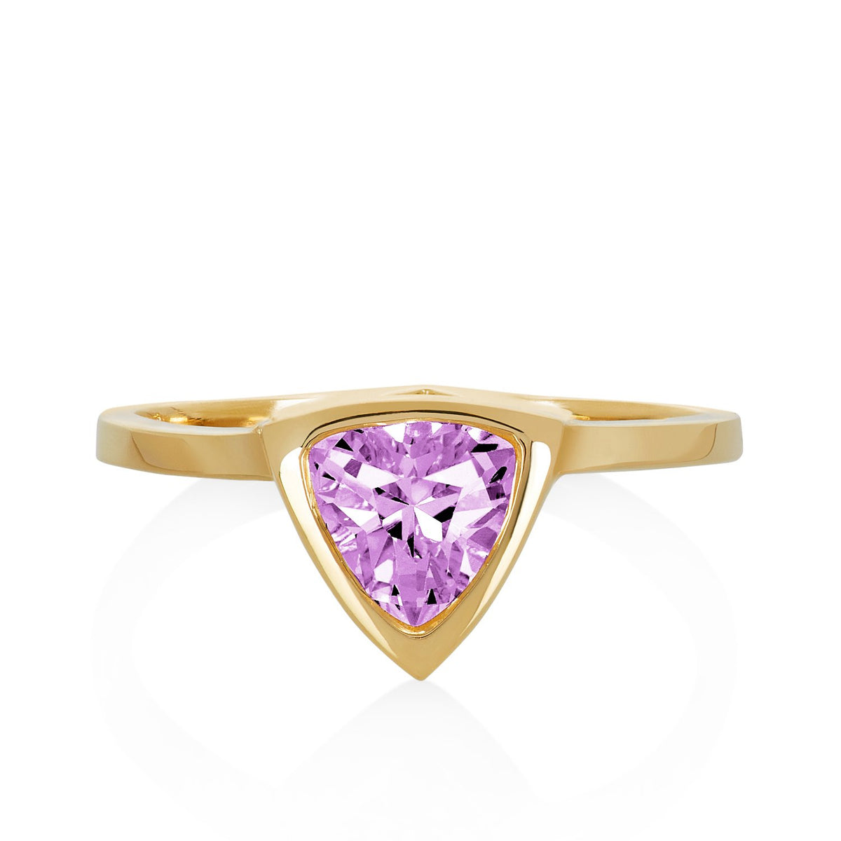 Light Pink Sapphire Mini Self Love Pinky Ring
