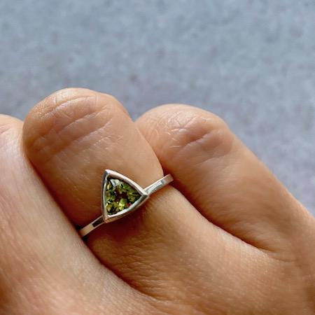 Peridot Mini Self Love Pinky Ring
