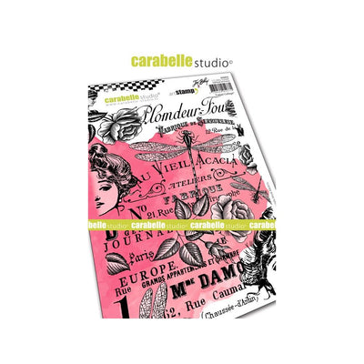 "Carabelle Studio Cling Stamp A5 (Larger Size) - ""Fabric Collage"" - Jen Bishop"