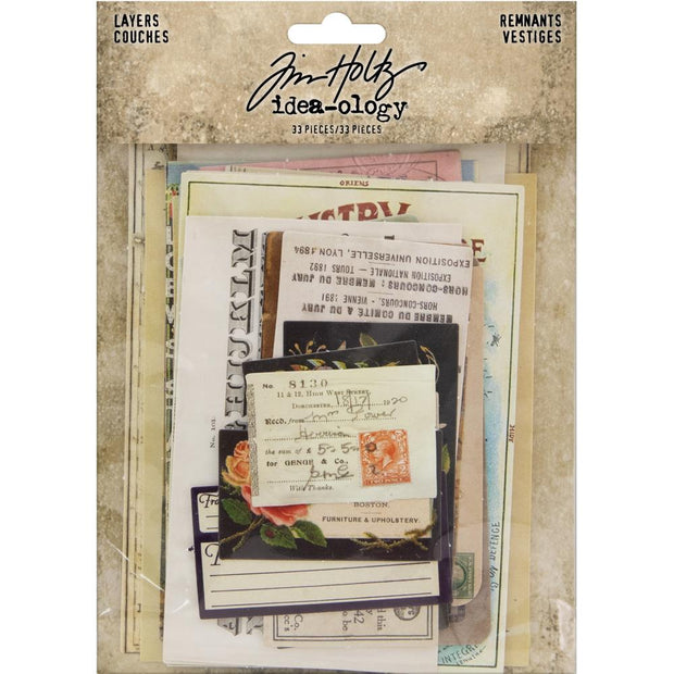 Idea-Ology Layers Remnants 33/Pkg - Tim Holtz