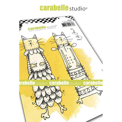 "Carabelle Studio - ""Cling Stamp A6 : ""Kooky Cats"" by Kate Crane"