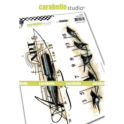 "Carabelle Studio - ""Cling Stamp A5 : ""The Art of a Feather"" by Alexis"