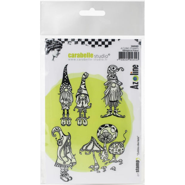 "Carabelle Studio - ""Cling Stamp A6 : ""Zolitins Des Bois"" by Azoline - NEW"