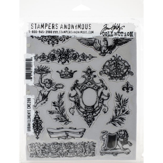 Tim Holtz - Stampers Anonymous - URBAN ELEMENTS STAMP SET - NEW RELEASE