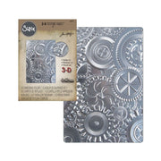 3-D Texture Fades - Tim Holtzz -Sizzix -Embossing