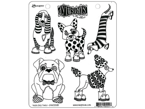 Dylusions Cling Stamps - Puppy Dog Tails