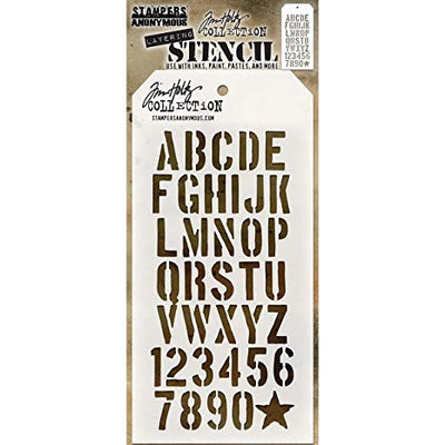 Stampers Anonymous - Tim Holtz - Layering Stencil - Crate