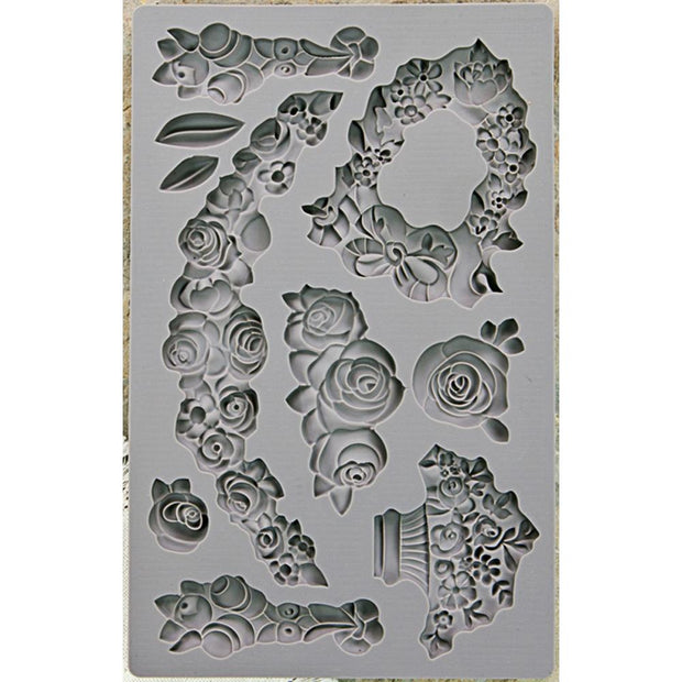 Iron Orchid Designs Vintage Art Decor Mould - Fleur