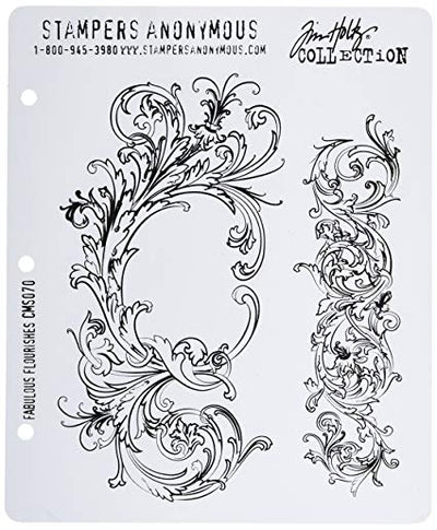 Tim Holtz Cling Stamps - Fabulous Flourishes