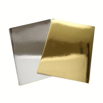 Gold and Silver Metallic Cardstock Paper Pack - 20 Sheets