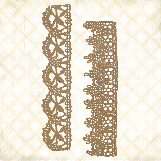 Jane's Memoirs - Chantilly Lace Borders - Chipboard - PRE-ORDER
