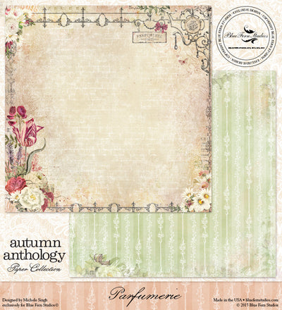 Blue Fern Studios Patterned Paper - Autumn Anthology - Parfumerie