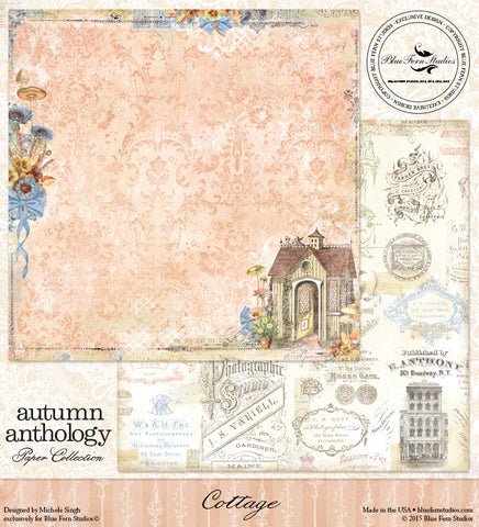 Blue Fern Studios Patterned Paper - Autumn Anthology - Cottage