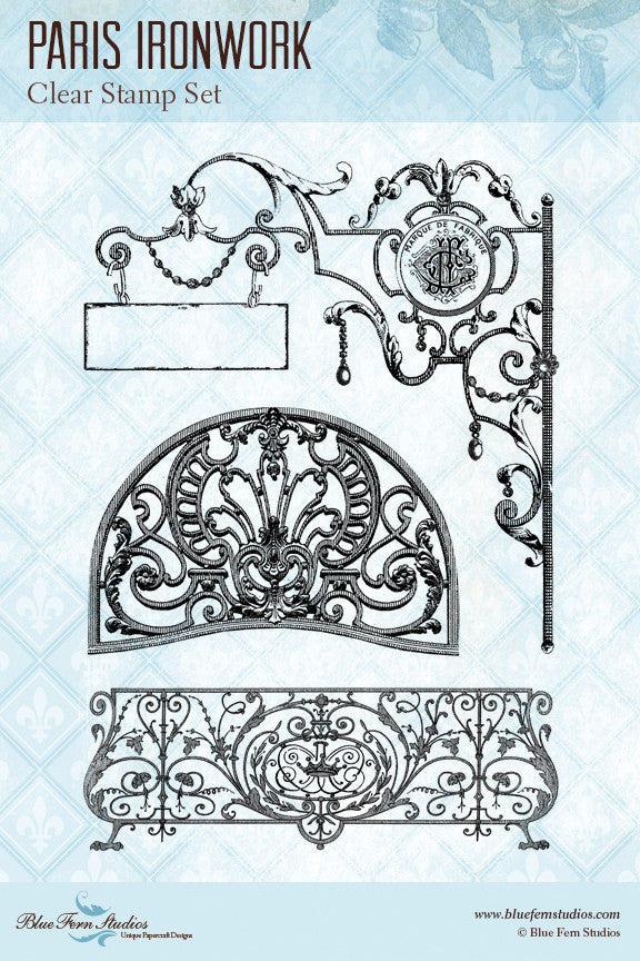 Parisian Ironwork Stamp Set