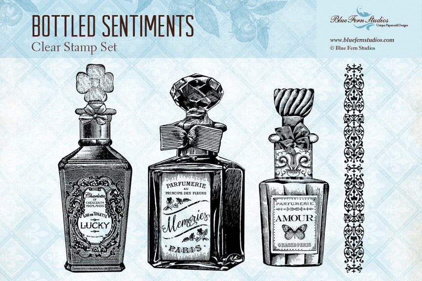 Blue Fern Stamp - Bottled Sentiments