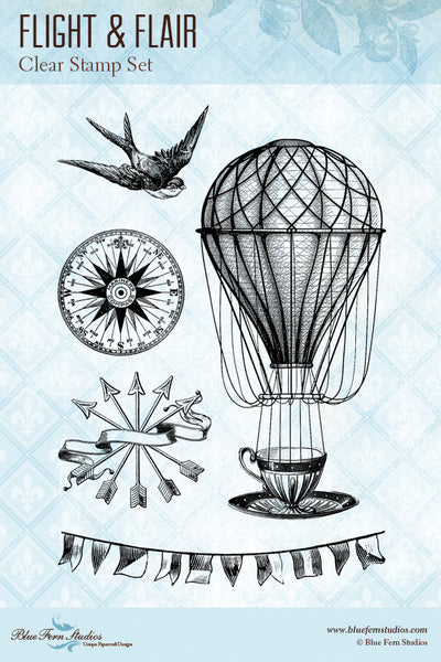 Blue Fern Stamp - Flight & Flair