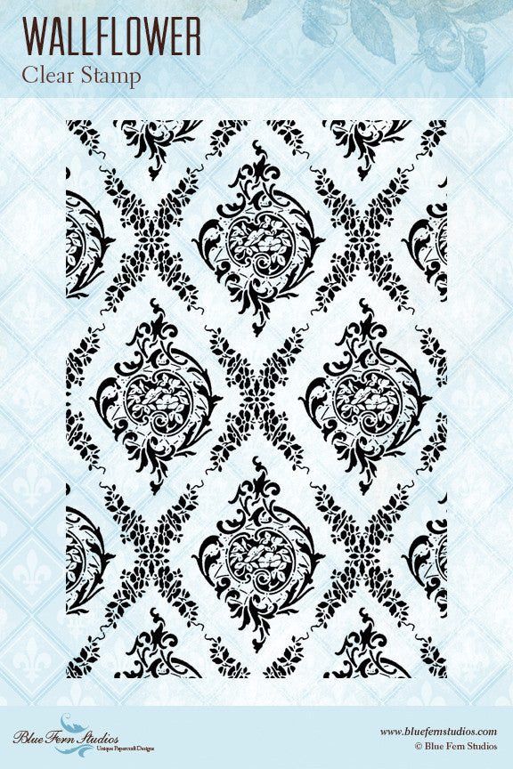 Blue Fern Stamp - Wallflower Stamp Set